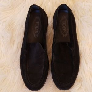 Black tods loafers